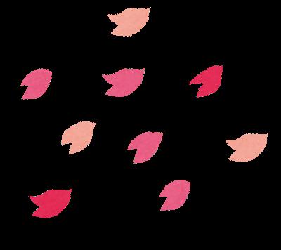 桜吹雪の図