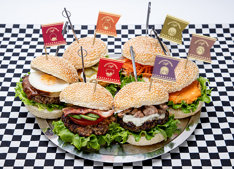 各キャラクターをイメージしたハンバーガー